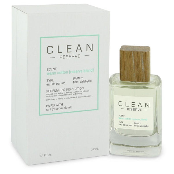 Clean Reserve Warm Cotton by Clean Eau De Parfum Spray 3.4 oz for Women