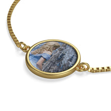 Load image into Gallery viewer, Glass and Ashes Blue Cinderella Box Chain Bracelet