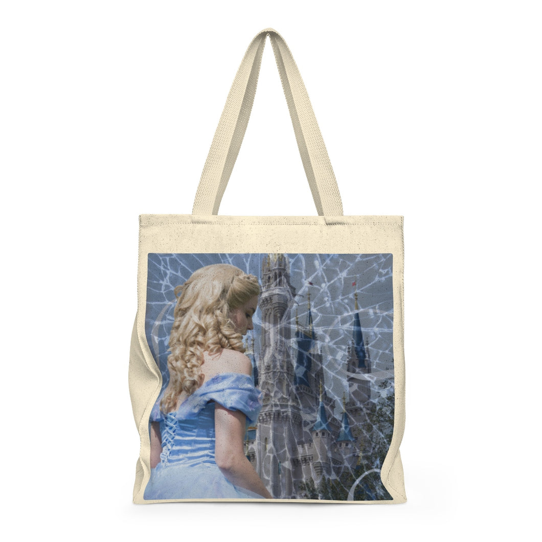 Glass and Ashes Blue Cinderella Shoulder Tote Bag - Roomy