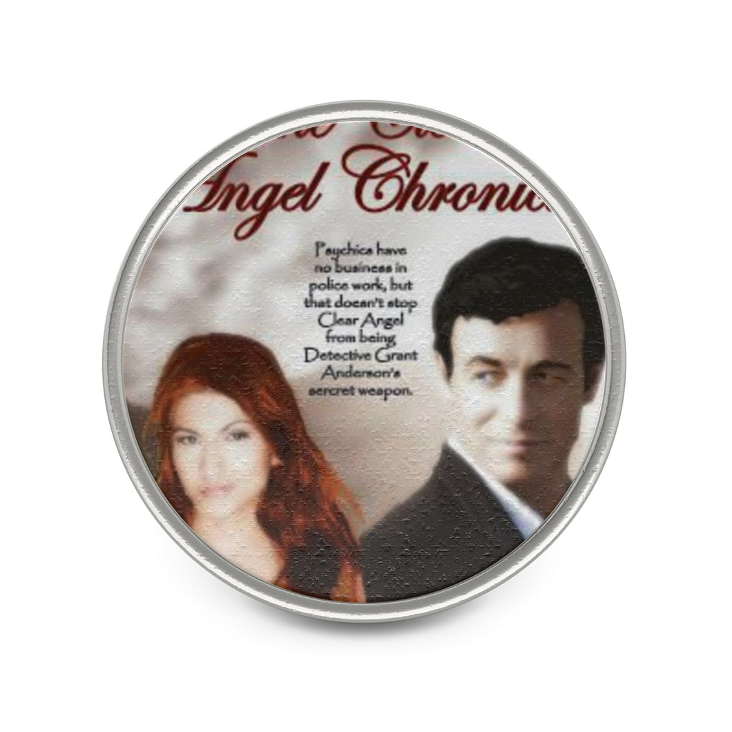 Clear Angel Chronicles Metal Pin