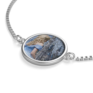 Glass and Ashes Blue Cinderella Box Chain Bracelet