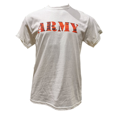 ARMY T-shirt-red camo S Clothing Sourced by Back Alley - The Back Alley Army Store
