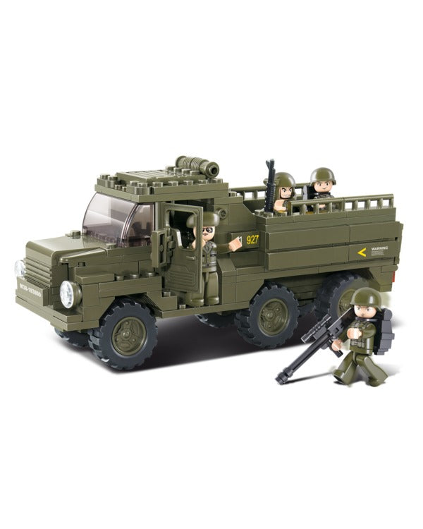 Troop carrier truck-B0301 sluban toy truck