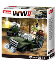 WW2 Allied Jeep-B0678B  kids Kombat UK - The Back Alley Army Store