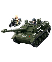 WW2 Allied tank destroyer-B0687 sluban toy tank