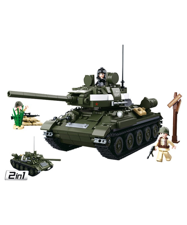 WW2 Allied medium tank-2 in 1-B0689