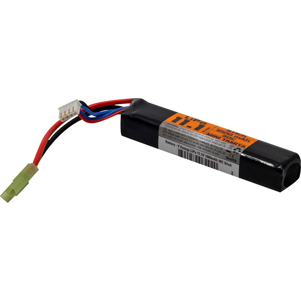 VALKEN AIRSOFT BATTERY - LIPO 11.1V 1000MAH 30C STICK STYLE  Airsoft Valken - The Back Alley Army Store