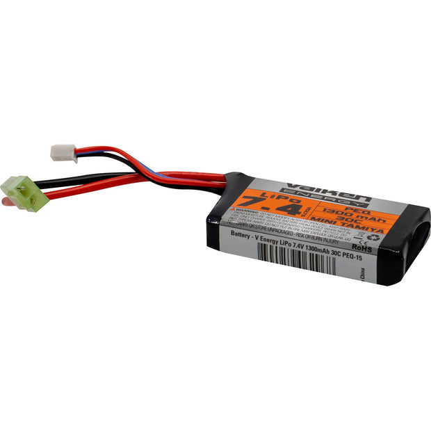 VALKEN AIRSOFT BATTERY - LIPO 7.4V 1300MAH 30C PEQ STYLE  Airsoft Valken - The Back Alley Army Store