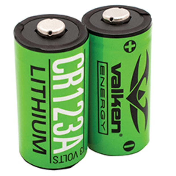 VALKEN ENERGY BATTERY - CR123A 3V LITHIUM (2-PACK)  Airsoft Valken - The Back Alley Army Store