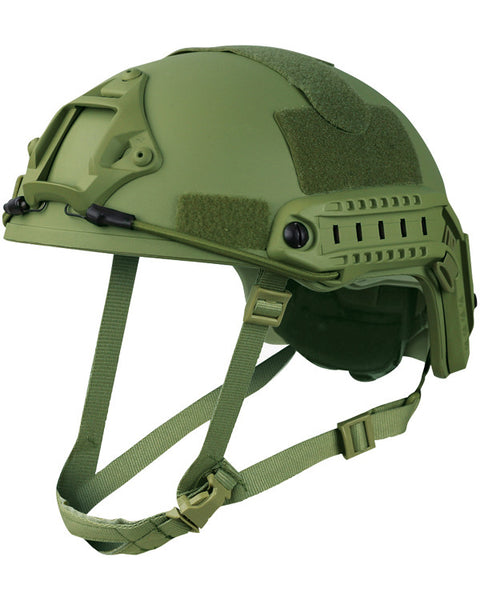 F.A.S.T Helmet replica-B.T.P Olive Airsoft Kombat UK - The Back Alley Army Store