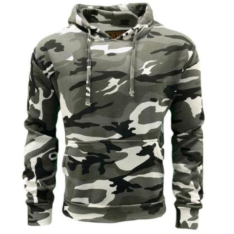 uraban camo black and white snow camo hoodie