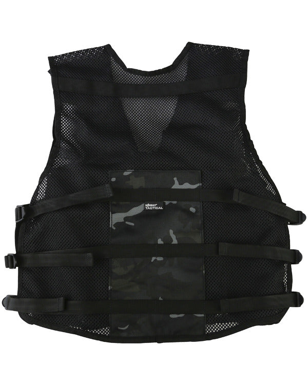 kids assault vest black camo btp black