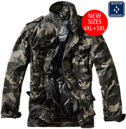 BRANDIT-M-65 Classic-dark camo. open with removable lining and 4 pockets