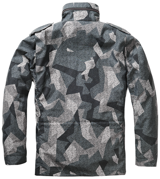BRANDIT-M-65 Classic-Night camo. back with hood in zipped collar and pleated shoulders for flexibility