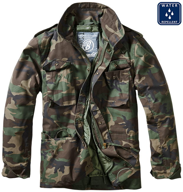 BRANDIT-M-65 Classic-woodland camo. open with removable lining and 4 pockets