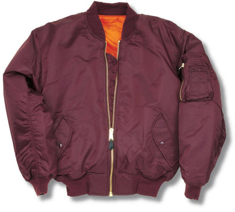 U.S Style MA-1-Maroon  Clothing Sourced by Back Alley - The Back Alley Army Store