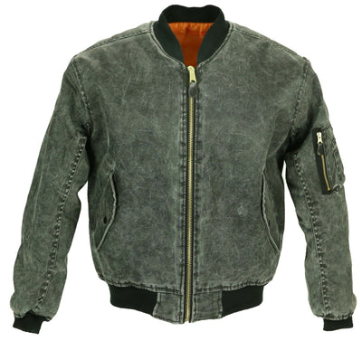 ma1 bomber stonewashed black