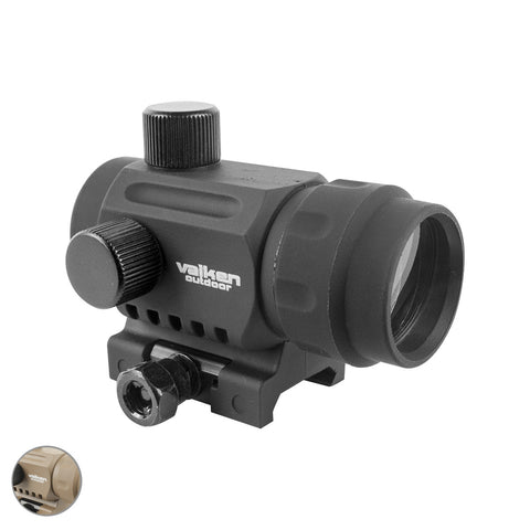 VALKEN MINI RED DOT SIGHT RDA20 Black Airsoft Valken - The Back Alley Army Store