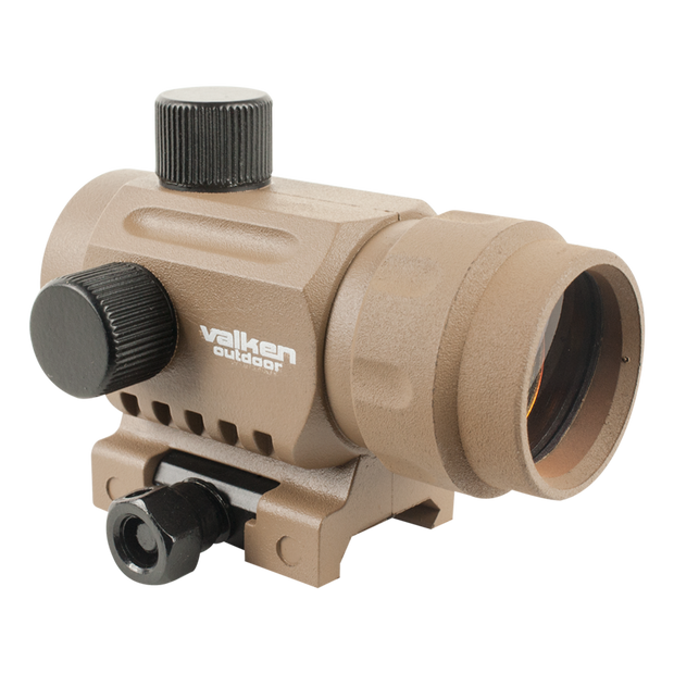 VALKEN MINI RED DOT SIGHT RDA20 Tan Airsoft Valken - The Back Alley Army Store