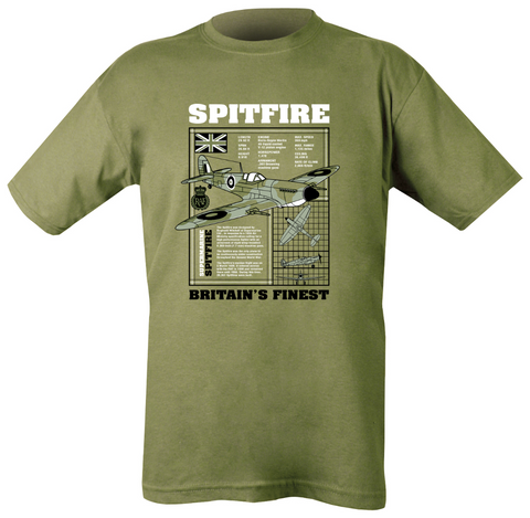 Spitfire T-shirt  Clothing Kombat UK - The Back Alley Army Store