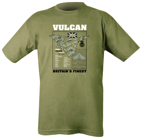 Vulcan T-shirt M Clothing Kombat UK - The Back Alley Army Store