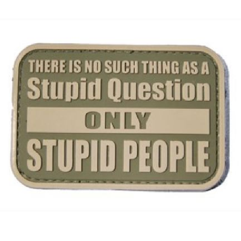 Stupid people question  Airsoft Sourced by Back Alley - The Back Alley Army Store