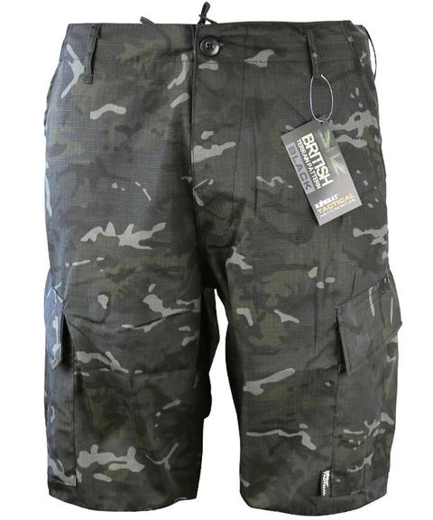 ACU Ripstop Shorts-BTP S / BTP BLACK Clothing Kombat UK - The Back Alley Army Store