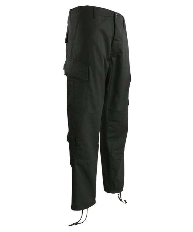 Assault Trouser ACU Style S / BLACK Clothing Kombat Tactical - The Back Alley Army Store