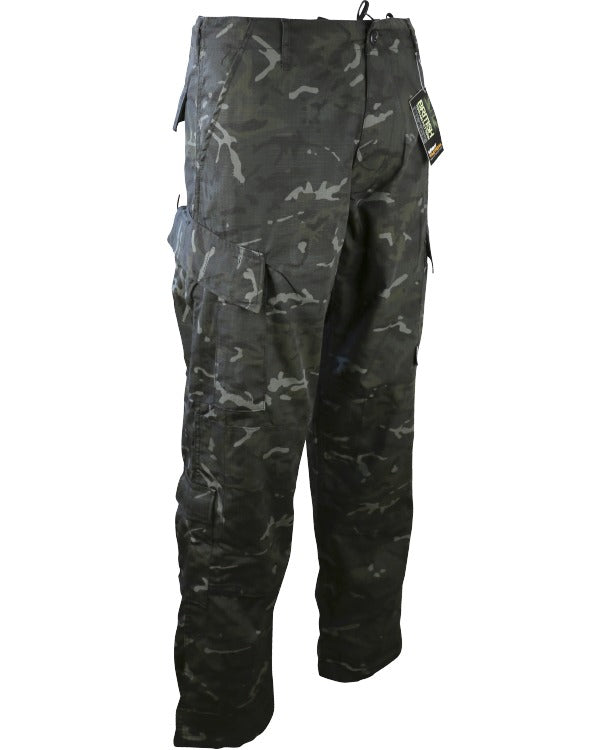 Assault Trouser ACU Style M / BTP BLACK Clothing Kombat Tactical - The Back Alley Army Store