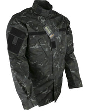 Assault Shirt ACU Style S / BTP BLACK Clothing Kombat UK - The Back Alley Army Store