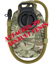 btp molle aqua bladder water pouch fits to plate carrier