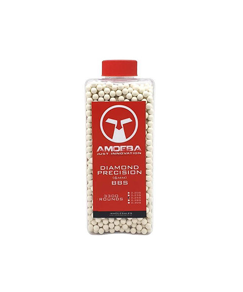 Ares x Amoeba Diamond Precision 0.25g (Bottle - 3300)  Airsoft Amoeba - The Back Alley Army Store