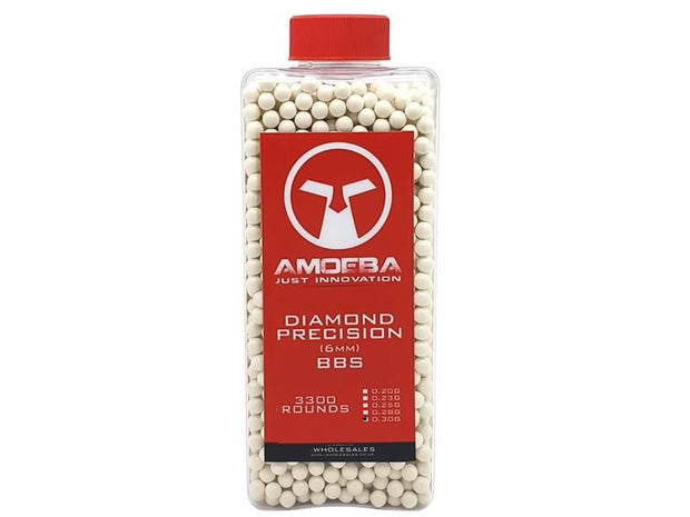 Ares x Amoeba Diamond Precision 0.30g (Bottle - 3300)  Airsoft Amoeba - The Back Alley Army Store