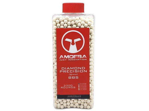 Ares x Amoeba Diamond Precision 0.20g (Bottle - 3300)  Airsoft Amoeba - The Back Alley Army Store