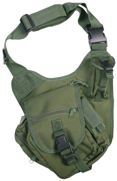 Tactical Shoulder Bag 7ltr- Olive  Bag Kombat UK - The Back Alley Army Store