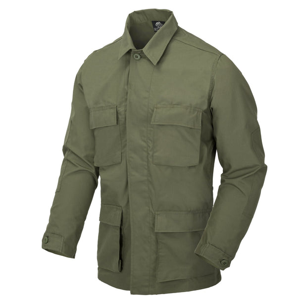 BDU ripstop Shirt-Olive S Clothing Helikon-Tex - The Back Alley Army Store