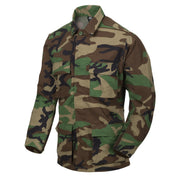 BDU ripstop Shirt-US Woodland S Clothing Helikon-Tex - The Back Alley Army Store
