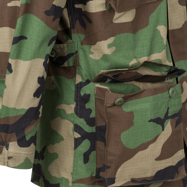 BDU ripstop Shirt-US Woodland  Clothing Helikon-Tex - The Back Alley Army Store