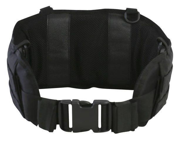 Battle Belt-Black- out fastened with molle platform and d-rings to attach battle yoke