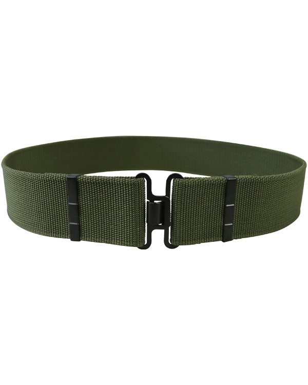 Cadet MOD belt.2 inch wide olive green belt showing mod style buckle