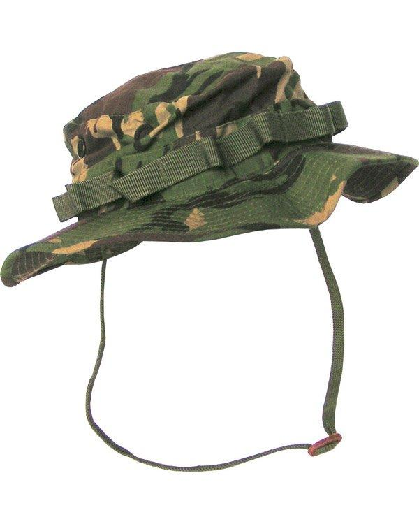 Boonie hat- dpm woodland camo. vented bush hat/bucket hat with neck strap