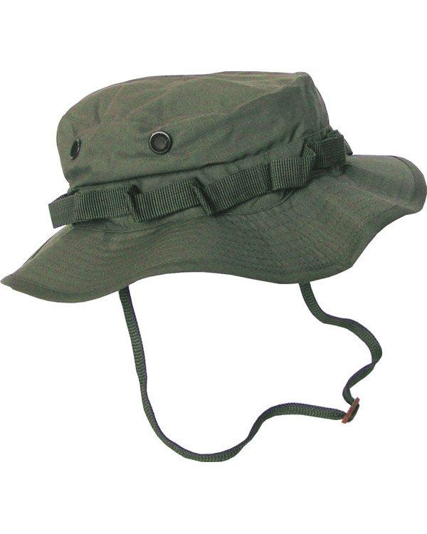 Boonie hat- olive green. vented bush hat/bucket hat with neck strap