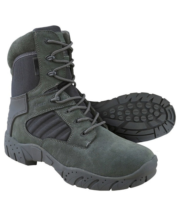 Tactical pro boot-50/50-Gunmetal grey  footwear Kombat UK - The Back Alley Army Store