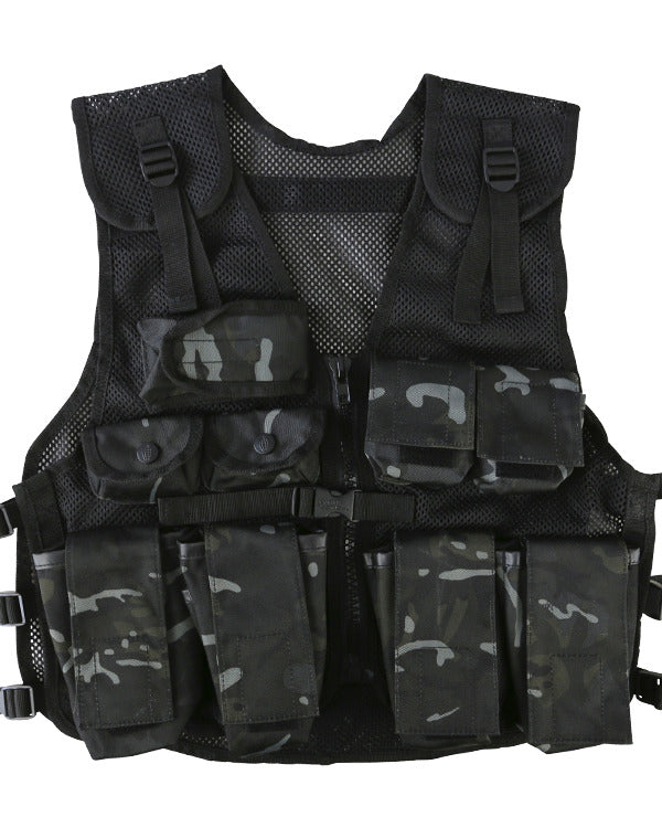 Kids assault vest and helmet set-BTP Black