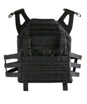 2 xl tactical vest Black Airsoft Kombat UK - The Back Alley Army Store