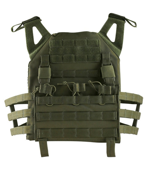 2 xl tactical vest Olive Airsoft Kombat UK - The Back Alley Army Store