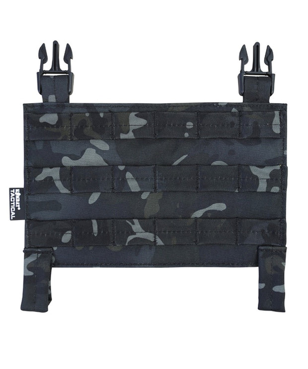 kombat tactical buckle tek molle panel btp black camo