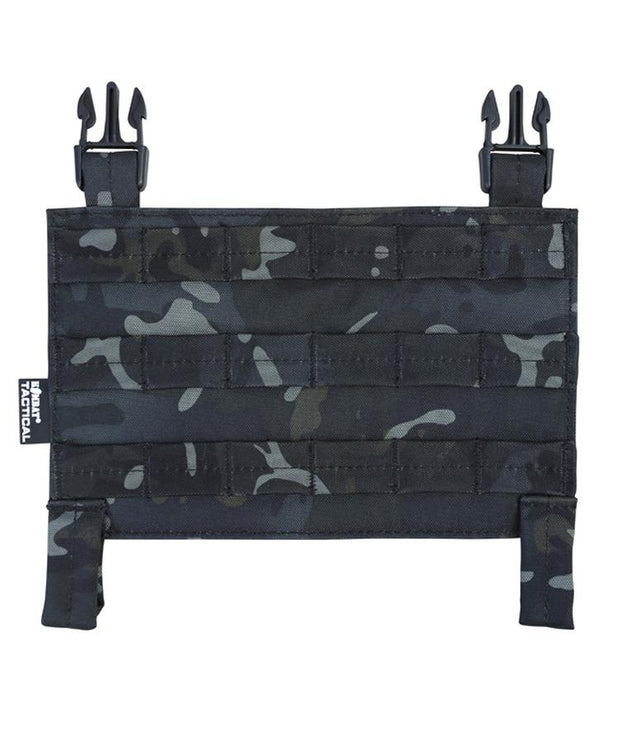 kombat tactical buckle tek molle panel btp black black camo