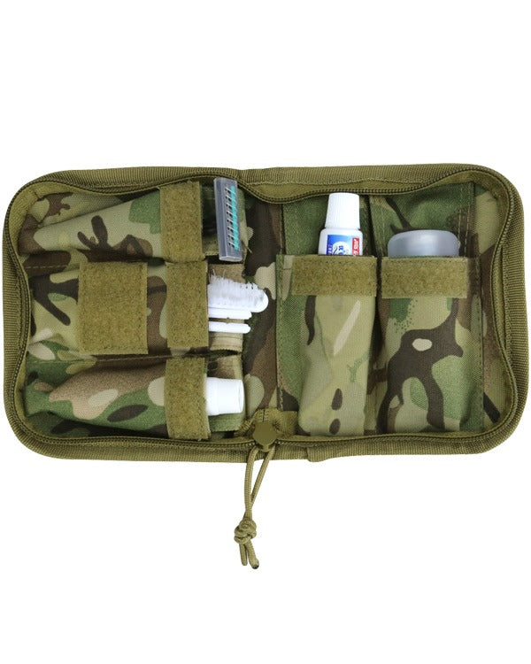 Cadet compact wash kit. open wash pouch showing contents
