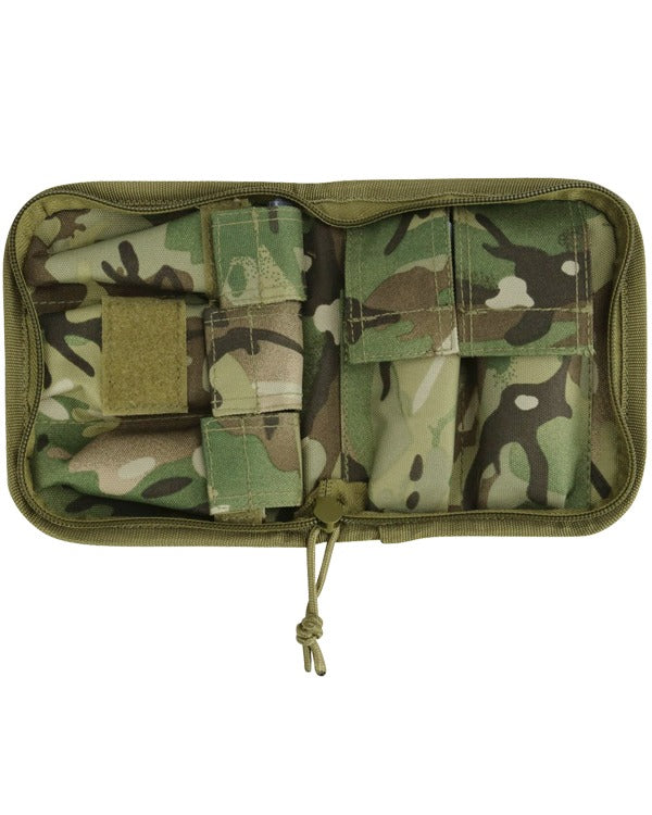Cadet compact wash kit. open wash pouch showing compartments